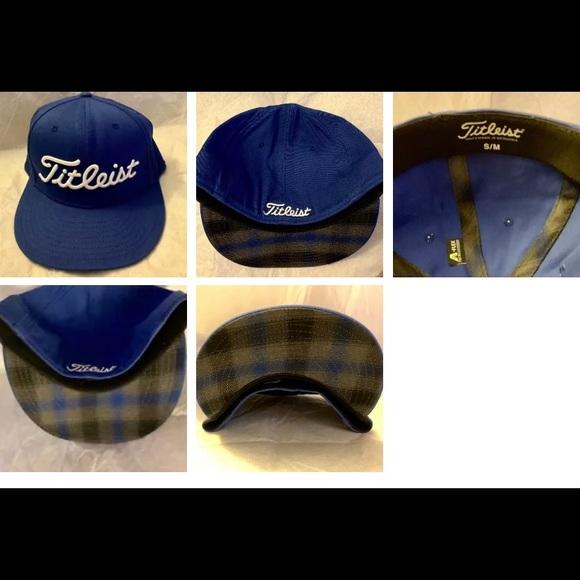 Authentic Blue Titleist flex fit golf hat S M f9fac32bbfdb